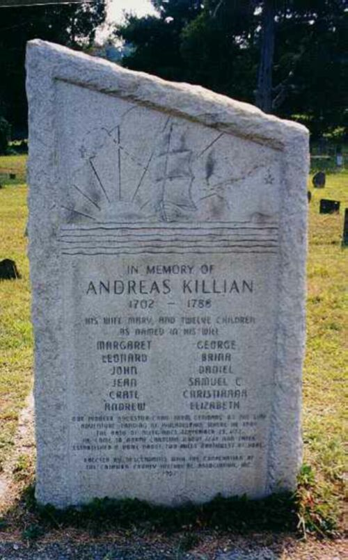 Andreas Killian Monument located at Old St. Pauls Church, Newton, NC